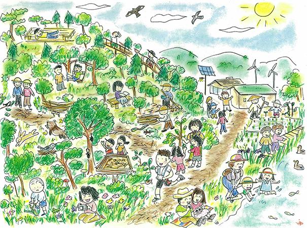 夢のもり公園のマップ