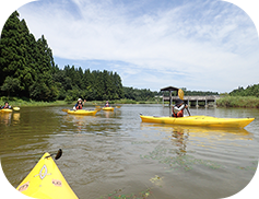 〜ゆめの森大池でカヌー体験〜