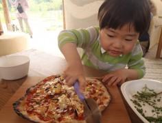 【終了】薪焼きピザ&古代の火起こし体験